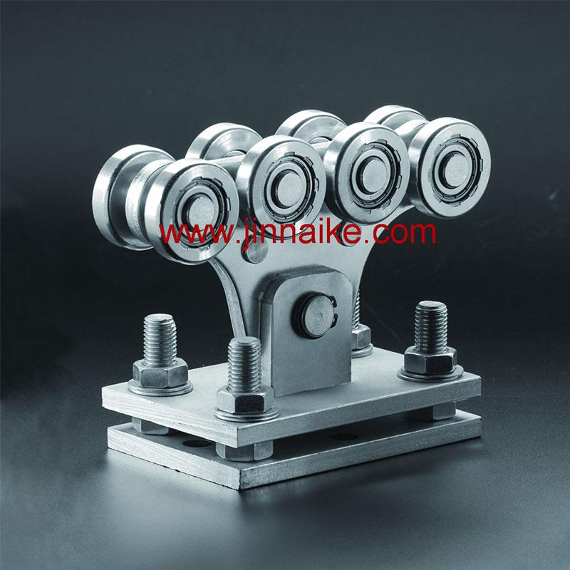 Rodillo de carro de puerta en voladizo ajustable (8 ruedas pequeñas y 8 ruedas medianas)