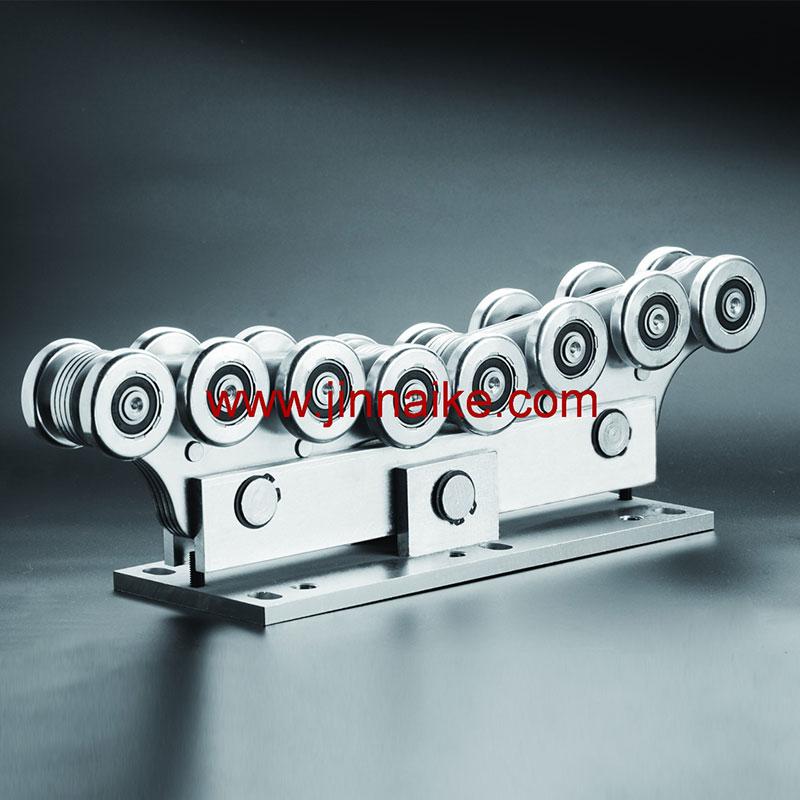 Rodillo de carro de puerta voladizo (16 ruedas medianas)
