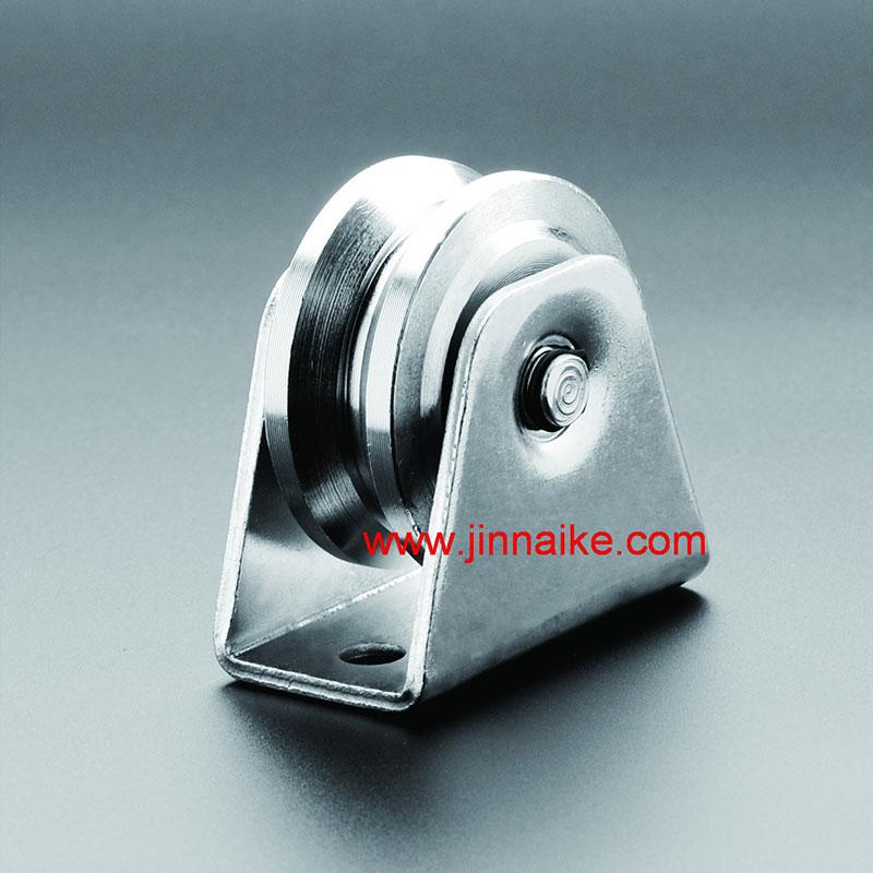 Rodillo de puerta corrediza para trabajo pesado con soporte exterior