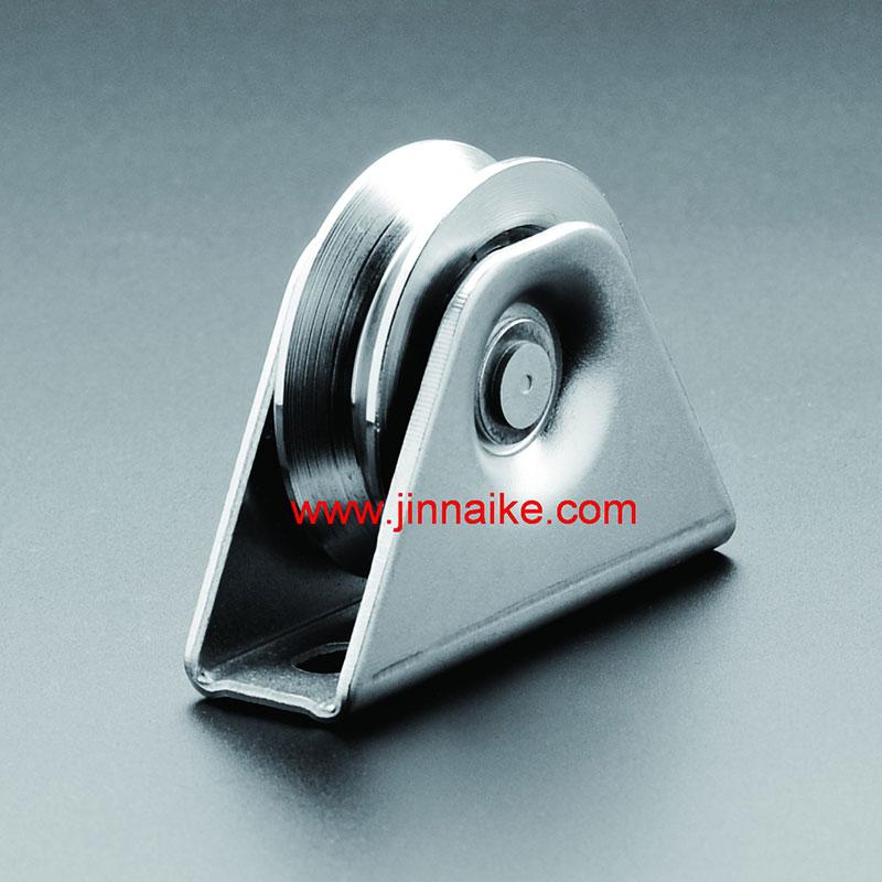 Polea de puerta corrediza con soporte exterior