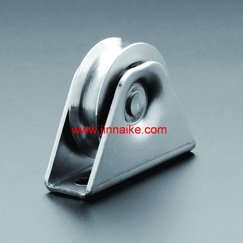 Rodillo de puerta corrediza de acero con soporte exterior