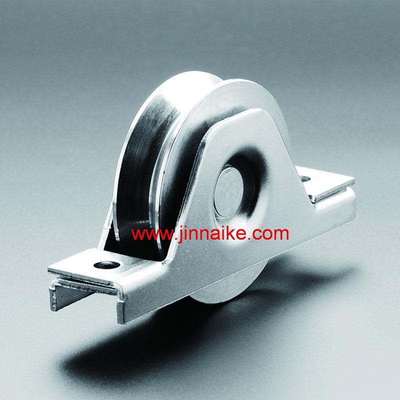 Rodillo de puerta corrediza de metal con soporte interior