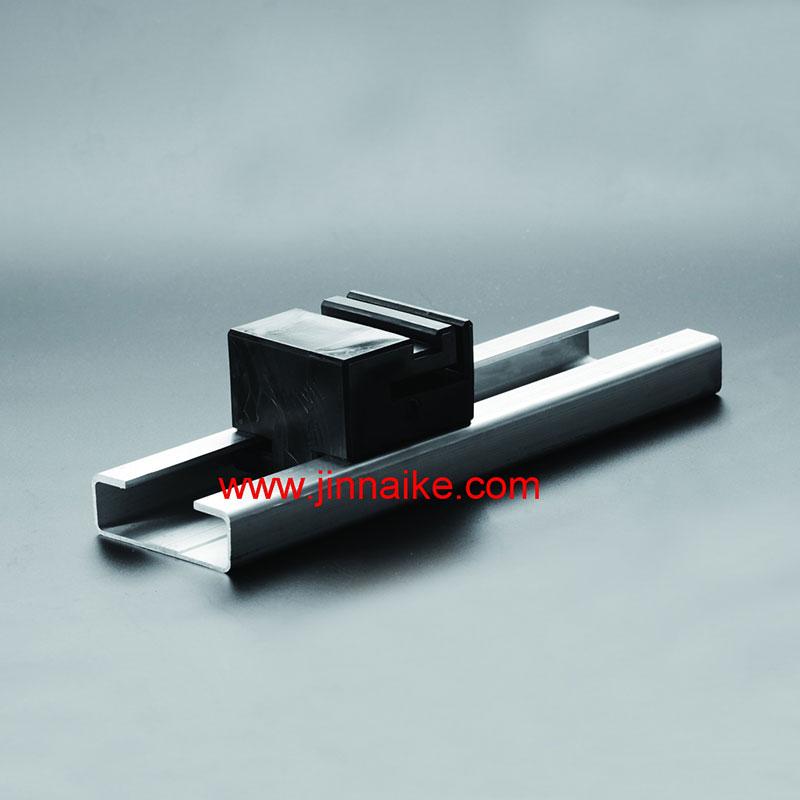 Bloque de plástico y pista de aleación de aluminio