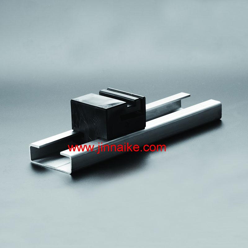 Bloque de plástico y riel y riel de aleación de aluminio