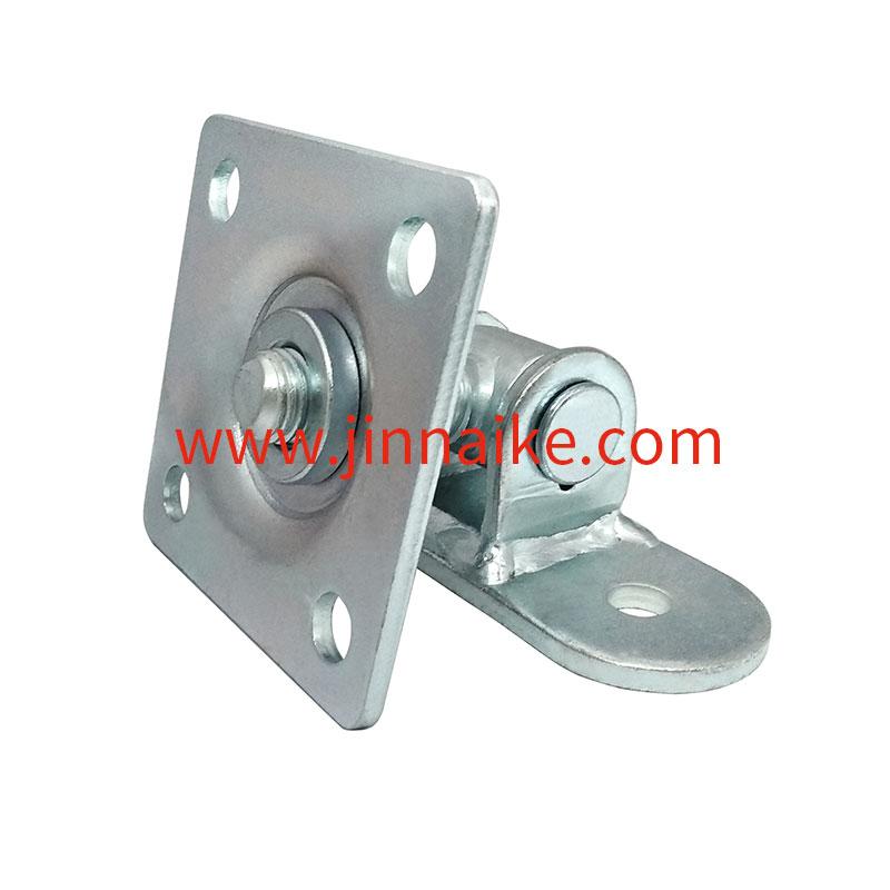 Bisagra para puerta con placas de montaje, placa cuadrada