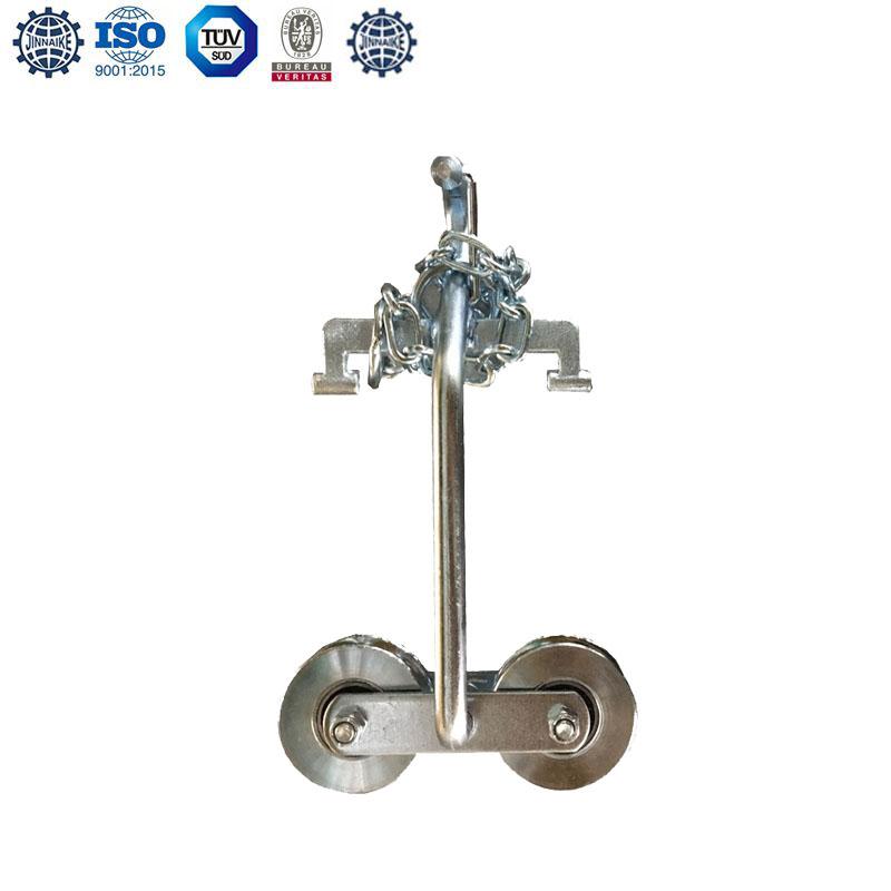 Rodillo para puerta colgante (con cadenas, rodamientos dobles)